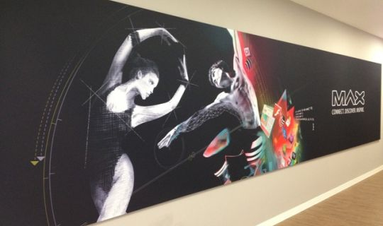 Acoustic ArtPanel in a stretched fabric application