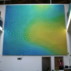 Acoustic ArtPanel in a stretched fabric application   Exeter University